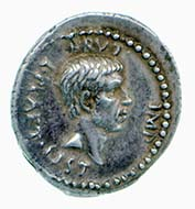 Denarius of Brutus. Image: Fitzwilliam Museum.