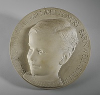 Mary Gillick, Medallion Portrait of Lionel Michael Lowry Barnwell (1947). Courtesy the Estate of Ernest and Mary Gillick and Leeds Museums & Galleries (Leeds Art Gallery).