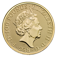Great Britain / GBP 100 / Gold .9999 / 1 oz / 32.69mm / Design: Jody Clark.
