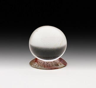 Crystal ball. Spherical ball of worked and polished quartz. 17th century, diameter 3.85 cm. © Ashmolean Museum, University of Oxford.