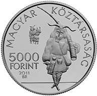 Hungary - 5000 HUF - 925 silver - 31.46 g - 38.61 mm - The Busó Festivities of Mohács - 3,000 (BU) and 5,000 (proof) - G. Gáti.