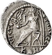 295 / Lot 1155: Sebastianus, 412-413. Siliqua, Arelate. From Tkalec & Rauch (1985), No. 424. Extremely rare. Almost extremely fine. Estimate: 12,500,- euros. Hammer price: 65,000,- euros.