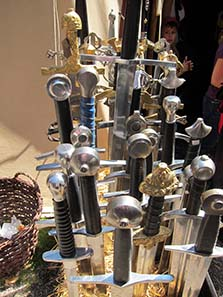An interesting selection of swords. Photo: UK.