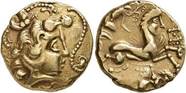 Lot 2: Celts. Veneti, 2nd cent. BC. Stater. Extremely fine. Estimate: 10,000 CHF. Hammer price: 24,000 CHF.
