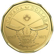 Canada / 1 Dollar / Three-ply brass finish plated steel / 6.27g / 26.5mm / Design: Susanna Blunt (obverse) and Steven Rosati (reverse) / Mintage: 50,000.