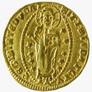 Imitation of a ducat of Andrea Dandolo, attributed to Turkish minters of Asia Minor. Photo credit: Princeton University Library Numismatic Collection.
