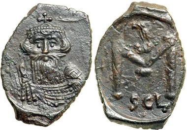 Constans II (641-668). Follis, Syracuse. From CNG, Triton sale 8 (2005), 1383.