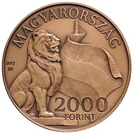 Hungary / HUF 2.000 / Copper-Nickel / 18.4g / 37mm / Mintage: 5,000.