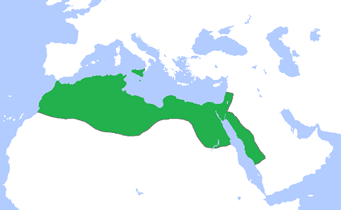 The Fatimid Empire around 969. Source: Gabagool / CC BY 3.0