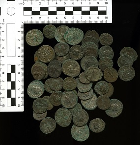 Piddletrenthide hoard coin sample.