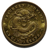 7.2 Candareens Coin, United States for China, 1902.