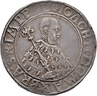 Joachim II. Taler 1541, Berlin. Extremely rare. Very fine. Estimate: 20,000 euros. From Künker sale 300 (2018), No. 9.