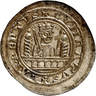 No. 502: Mühlhausen. Conrad III, 1138-1152. Bracteate. Extremely rare. Almost FDC. Estimate: 25,000,- euros.