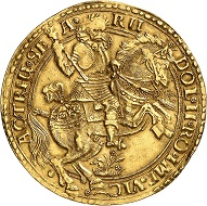No. 865: Hildesheim / City. Gold donative in the weight of 10 ducats no date (after 1618). Very rare. Very fine to extremely fine. Estimate: 50,000,- euros.
