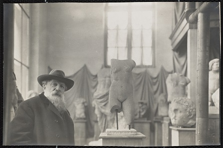 Rodin in his Museum of Antiquities at Meudon on the outskirts of Paris, about 1910 Photo: Albert Harlingue. Image © Musée Rodin.
