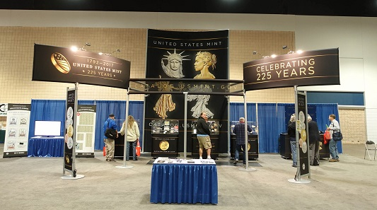 The booth of the US Mint. Photo: UK.