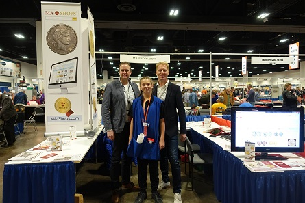 The team of MA-Shops was very content: There will probably be a lot more coin dealers for US-American coins at MA-Shops in the future. Photo: UK.