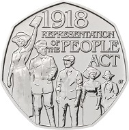 United Kingdom / 50 Pence / Cupro-nickel / 8.00g / 27.30mm / Design: Jody Clark (obverse) and Stephen Taylor (reverse).