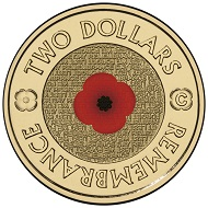 "The object of dispute: The Australian ""Poppy Coin"", issued on occasion of Remembrance Day in 2012. Photo: Royal Australian Mint."
