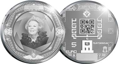 Netherlands - 5 Euro - Silver plated copper - 29 mm - 10,5 g - Circulation Quality - Mintage to be determinded.