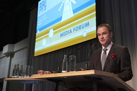 The president of the World Money Fair inaugurates the Media Forum. Photo: WMF.