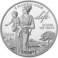 United States / 100 USD / Platinum .9995 / 1 oz / Design: Justin Kunz and Phebe Hemphill (obverse); Patricia Lucas-Morris and Don Everhart (reverse).