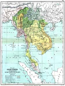 Map of Indochina with Burma and Siam. Source: Wikipedia.