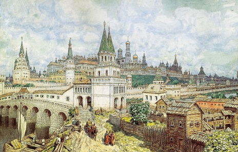 Moscow at the end of the 16th century. Watercolor by Apollinary Vasnetsov.