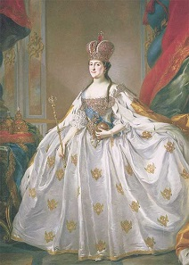 Coronation of Catherine II. Painting by Stefano Torelli.