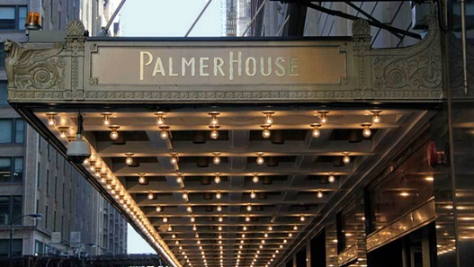 The Palmer House entrance.