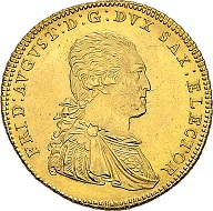 Electorate Saxonia. Friedrich August III (I), 1763-1827, 1806 King 10 taler 1791 IEC, Dresden. Very rare. Extremely fine.