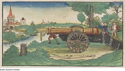 Depiction of a cannon from 1547. Source: Deutsche Fotothek / Wikipedia.