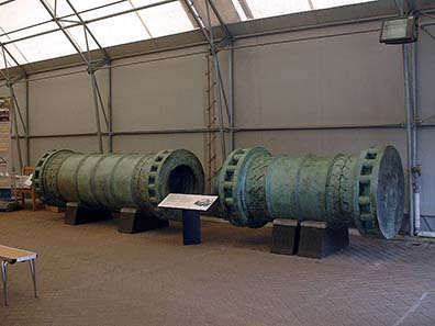 Two-part Ottoman heavy siege cannon. A similar one was responsible for the conquest of Constantinople in 1453. Photograph: Wikipedia.
