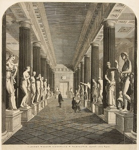 The former hall where the 542 castings from the collection of King Stanislaw August were displayed during the beginning of the 19th century will turn into the exhibition space for publishing houses in 2021. (Incidentally, CoinsWeekly has already reserved a booth.)  Graphic art by Franciszek Tegazzo (1829-1879), Photo: UK.