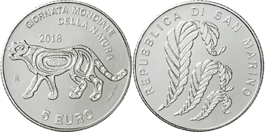San Marino / 5 Euros / silver .925 / 18g / 32mm / Mintage: 12,000 complete sets.