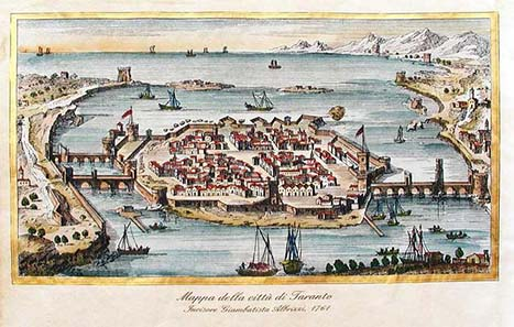 Tarentum in the 16th century. Source: Wikipedia.