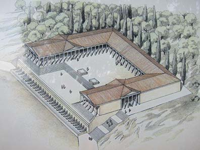 Reconstruction drawing of the victory monument of Augustus. Photograph: KW.