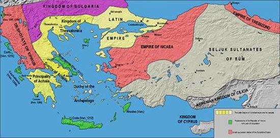 Map of the Despotate of Epirus. Source: Wikipedia.