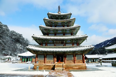 Beopjusa Temple, Hall of Eight Pictures in Korea. Photo: CIBM. © CIBM.