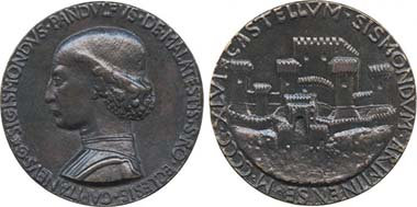 Sigimondo Malatesta. Medal by Matteo de' Pasti. From auction Baldwin 64 (2010), 36.