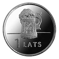 Latvia - 1 lats - cupro-nickel - 4.80 g - 21.75 mm - Design: Juris Dimiters (graphic design) and Andris Varpa (plaster model) - Mintage limit: 1,000 000 pieces.)