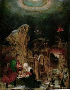 Albrecht Altdorfer, Birth of Christ. KHM, Vienna. Source: Wikipedia.