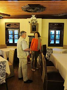 Katerini Liampi shows us a gorgeous restaurant aloft Ioannina, Epirote-style. Photograph: UK.