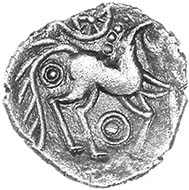 Odin?s Eye silver unit of the Iceni, c.50-30 BC, ABC 1537 var. Only five recorded. Found in East Anglia, 2011. Source: Chris Rudd.