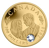 Canada - 200 CAD - 91.67% gold, 8.33 % silver - 16.0 g - 29 mm - Mintage: 2000 - Designer: Laurie McGaw (reverse), Susanna Blunt (obverse).