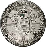 357: TRANSYLVANIA. Sigismund Bathory (1581-1602). Reichsthaler 1589. Dav. 8800. Resch 35. Very rare, EF. Price realized: 60,000 Euros.