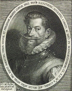 Adolf of Schwarzenberg (*1551, +1600), copperplate engraving after Dominicus Custos.