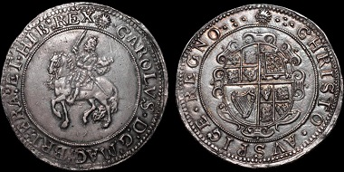 Lot 117: Charles I. AR crown. Ex John Brooker Collection (SCBI Brooker 274, this coin). Estimate: $16,500.