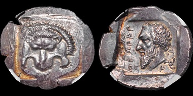 Lot 51: Dynasts of Lycia. Mithrapata. AR stater. Estimate: $4,750.