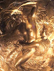 Detail of the Derveni Krater. Photograph: KW.